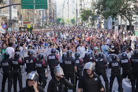 Movilización contra la reforma previsional. Diciembre 2017