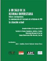 Libro: A un siglo de la Reforma Universitaria