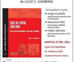 """Presentación del libro """"CRISIS DEL CAPITAL (2007/2013)."""